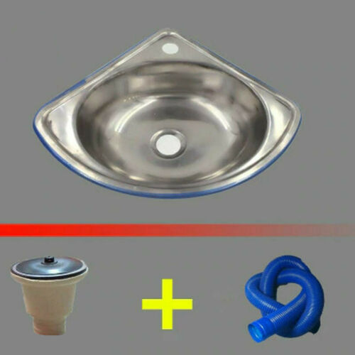 Stainless Steel Triangle Wash Basin Thick Small Sink Corner Wall Usa Stock