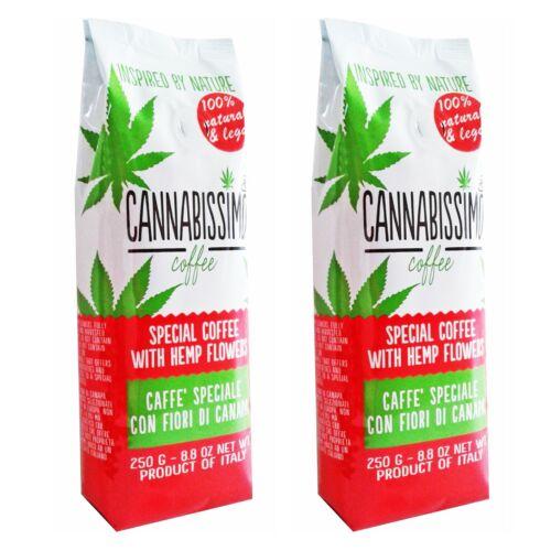 Cannabissimo Italian Gourmet Hemp Ground Coffee - 2 Pack
