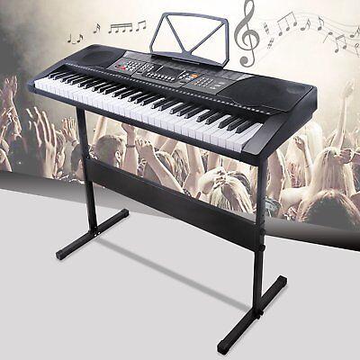 61 Key Music Electronic Keyboard Electric Digital Piano Organ w/Stand Black ERG