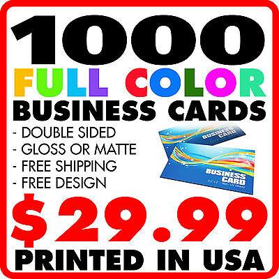 1000 custom full color business cards free design free shipping ebay 1000 custom full color business cards free design free shipping colourmoves