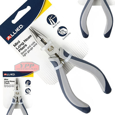 """4.5"""" Mini Long Needle Nose Pliers Wire Gauge Cutters Precision Jewelry Allied"""