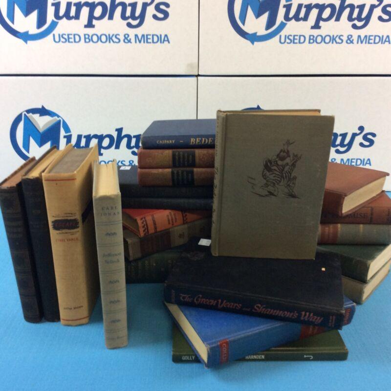 Lot of 10 Assorted Random Vintage Hardback Books Antique Old FREE SHIPPING!