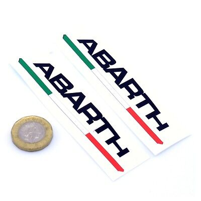 Fiat Abarth Text STICKERS Vinyl Decal Car 100mm Race Racing Rally Fiat 500