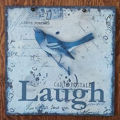 Знаки и вывески LAUGH Vintage Postmark