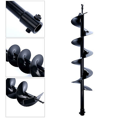 30inch Auger Post Hole Digger Bit Carbon Steel 6 Inch Wide Skid Steer Drill Us