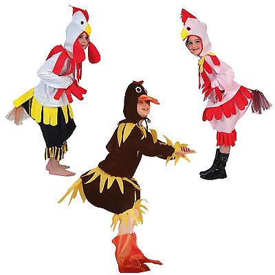 Schönes Kinder Kostüm versch. Größen 4 - 12 Jahre Ente Hahn Huhn Farm Bauernhof