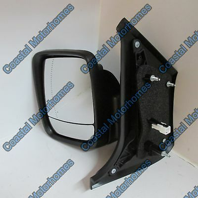 Renault Trafic Wing Door Mirror Left NS Passenger Electric Heated Black