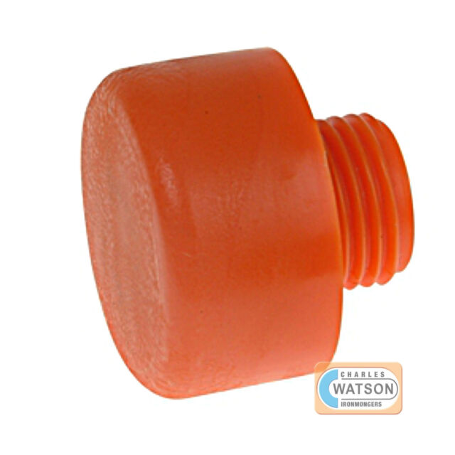 THOR 416PF 50mm Replacement Orange Plastic Hammer Face Screw In Head