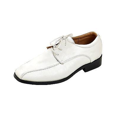 Jungen Halbschuhe Kinderschuhe festliche edle Anzug Schuhe weiss Gr. 24 bis 38 ()