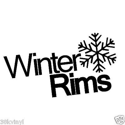 Winter Rims Funny Car/Window/Bumper Drift JDM Euro Dub Vinyl Decal Sticker
