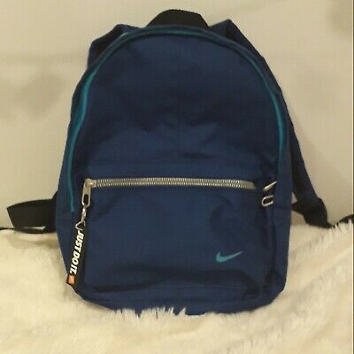 Womens, mens, kids. blue mini nike backpack, new without tags.