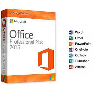 Microsoft Office 2016 Professional Plus Pro 32/64Bit Full Version Sydney Region Preview