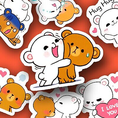 45 Cute Bear Friends Kawaii Stickers Journal, Diary Stickers, Scrapbooking [USA]