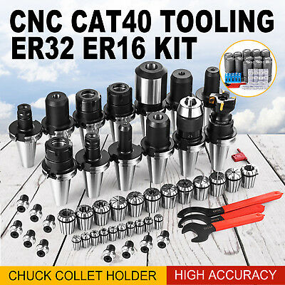 Cat 40 Tooling Kit For Haas Fadal Cnc Milling Tool Chuck Collet Holder Er32 Er16