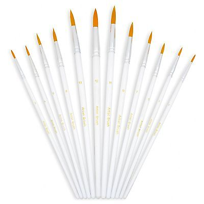 YOUSHARES 12pcs Art Paint Brush Set for Acrylic Watercolor Oil Painting / Cra...