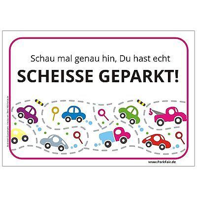 Scheisse Geparkt Notizblock mit 50 Blatt - die Geschenkidee gegen Falschparker