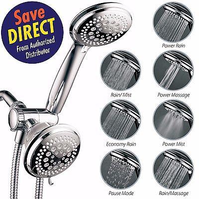 HotelSpa® 36-setting Ultra-Luxury 3-way Shower Head with Handheld Shower - 3 Way Showerhead