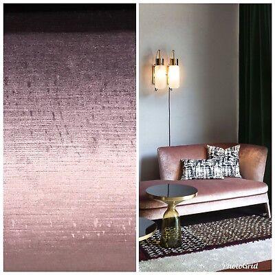 SWATCH- Designer Antique Inspired Velvet Fabric - Violet Pink - Upholstery Pink Velvet Fabric