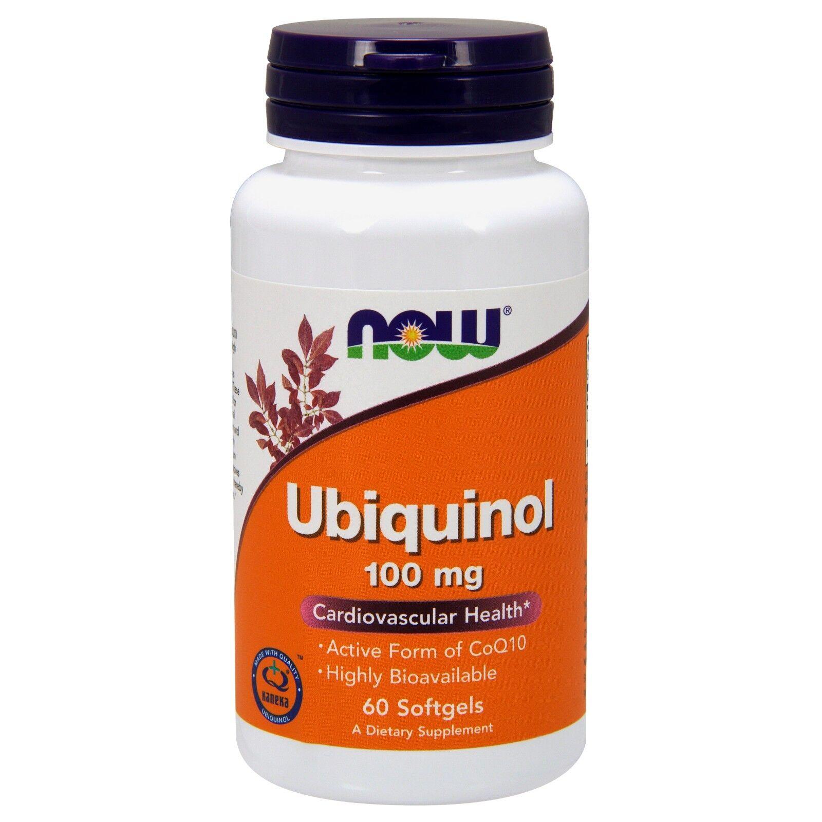 Now Foods Ubiquinol 100mg, Soft-gels, 60-Count