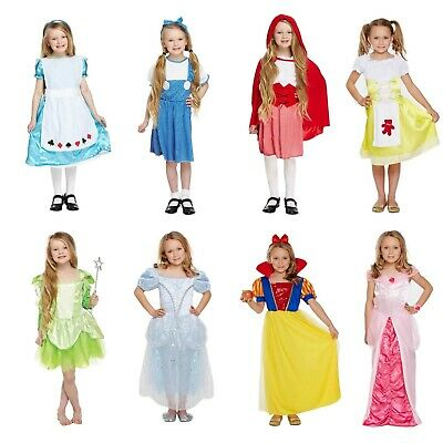 Fancy Dress Costume World Book Day Girls Dressing Up Outfit Book Characters - Girl Book Character Costumes