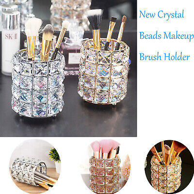 New Crystal Beads Makeup Brush Holder Makeup Brush Organizer Cosmetic Tools Cup