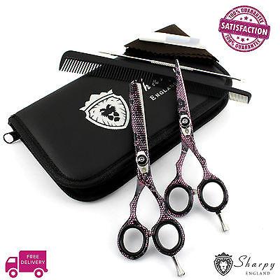 Original SHARPY Barber Hairdressing Scissors Set Hair Cutting Shears Kit RRP £38