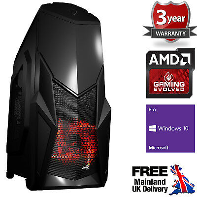 Computer Games - Ultra Fast AMD Quad Core HD 8GB DDR4 1TB Gaming PC Computer Windows 10 Cruise B