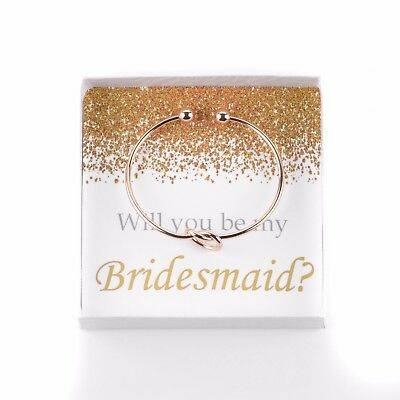 Will You Be My Bridesmaid Bracelet with Box, Bridesmaid Proposal, Maid of Honor