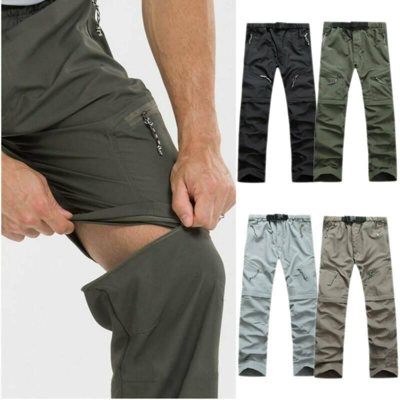 Mens Outdoor Climbing Hiking Pants Convertible Shorts Waterp