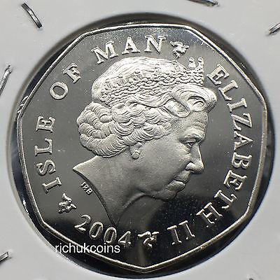 2004 IOM Xmas Diamond Finish 50p Coin with BA die marks