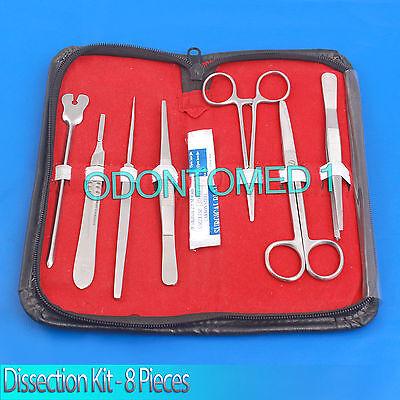 Dissection Kit - 8 Pcs Professional Biology Anatomy Veterinary Students Kit