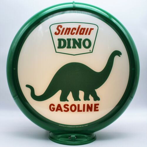 """SINCLAIR DINO 13.5"""" Gas Pump Globe - SHIPS FULLY ASSEMBLED! READY FOR YOUR PUMP!"""