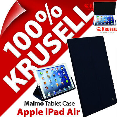 Krusell Malmo Funda Tablet Soporte Plegable Slim Cover Azul Marino para Apple