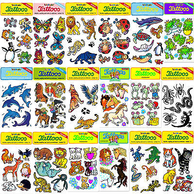 Kinder-Tattoos von LUTZ MAUDER - Wilde Tiere, Pferde, Meerestiere, Fische, u.v.m
