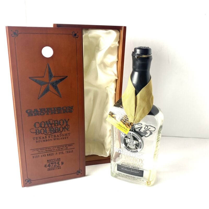 Garrison Brothers Texas Cowboy Bourbon Case And Bottle 2018 With Medallion