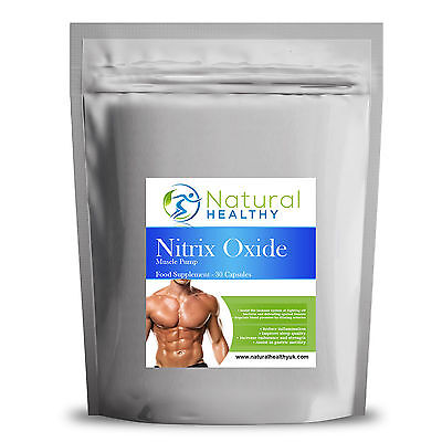 Stickstoffmonoxid 60 Kapseln - Steigerung Muskel Größe and Burn Körper Fett, UK ()