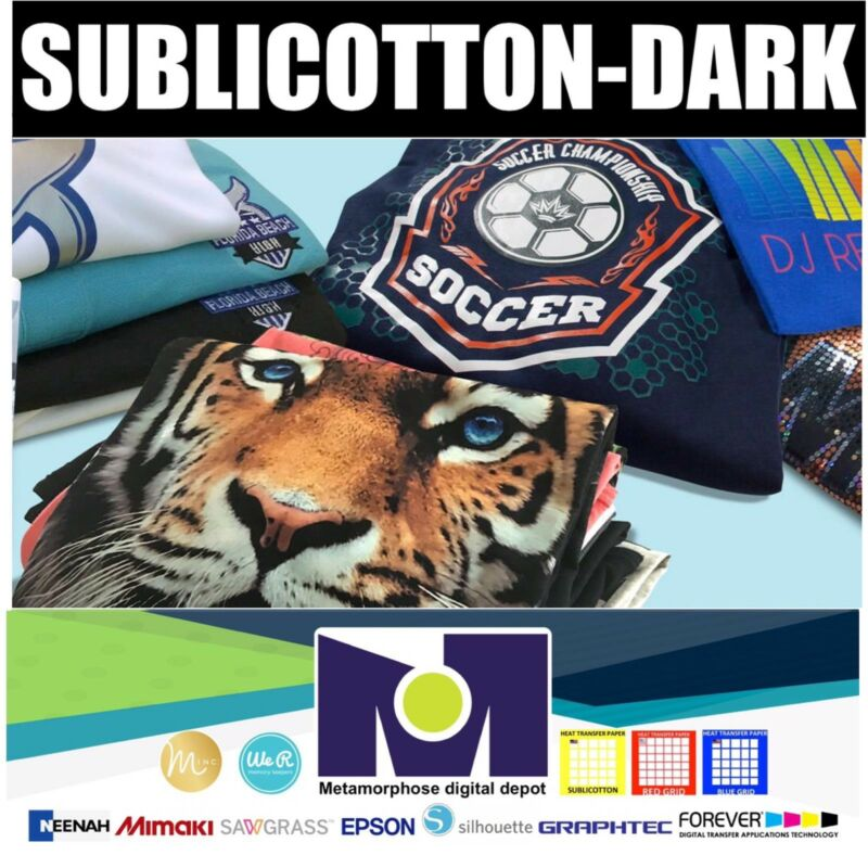 "HEAT TRANSFER PAPER SUBLICOTTON-DARK 5 Sh 8.5""X11"" Go To Cotton With Sublimation"