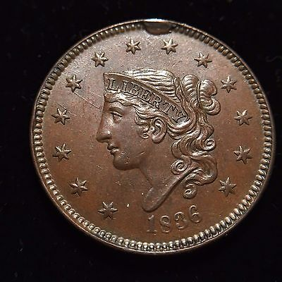 Click now to see the BUY IT NOW Price! 1836 CORONET LARGE CENT GEM BU UNC MS UNCIRCULATED BEAUTIFUL SHARP PENNY VARIETY