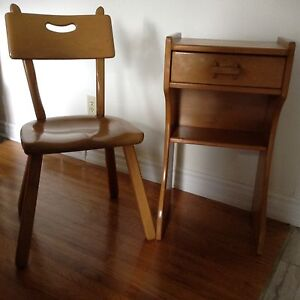 Solid Wood Chair and Desk