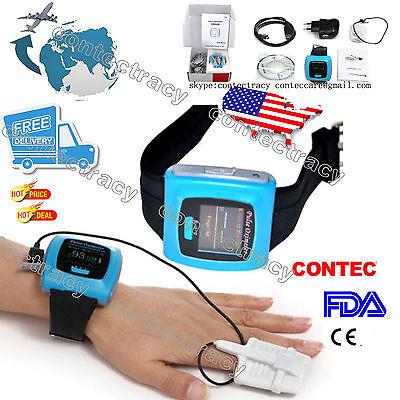 Usa Stockfda Wrist Pulse Oximeter Fingertip Oxygen Monitor Spo2 Prcolorswusb