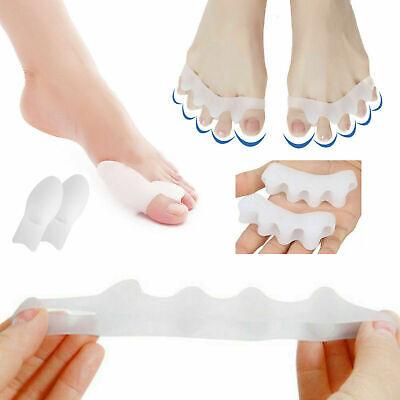 Pair Silicone Straightener Separator Gel Toe Bunion Spreader Corrector Cushion