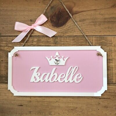 PERSONALISED NAME PLAQUE DOOR SIGN  PRINCESS WALL GIRLS BOYS KIDS CHILDRENS ()