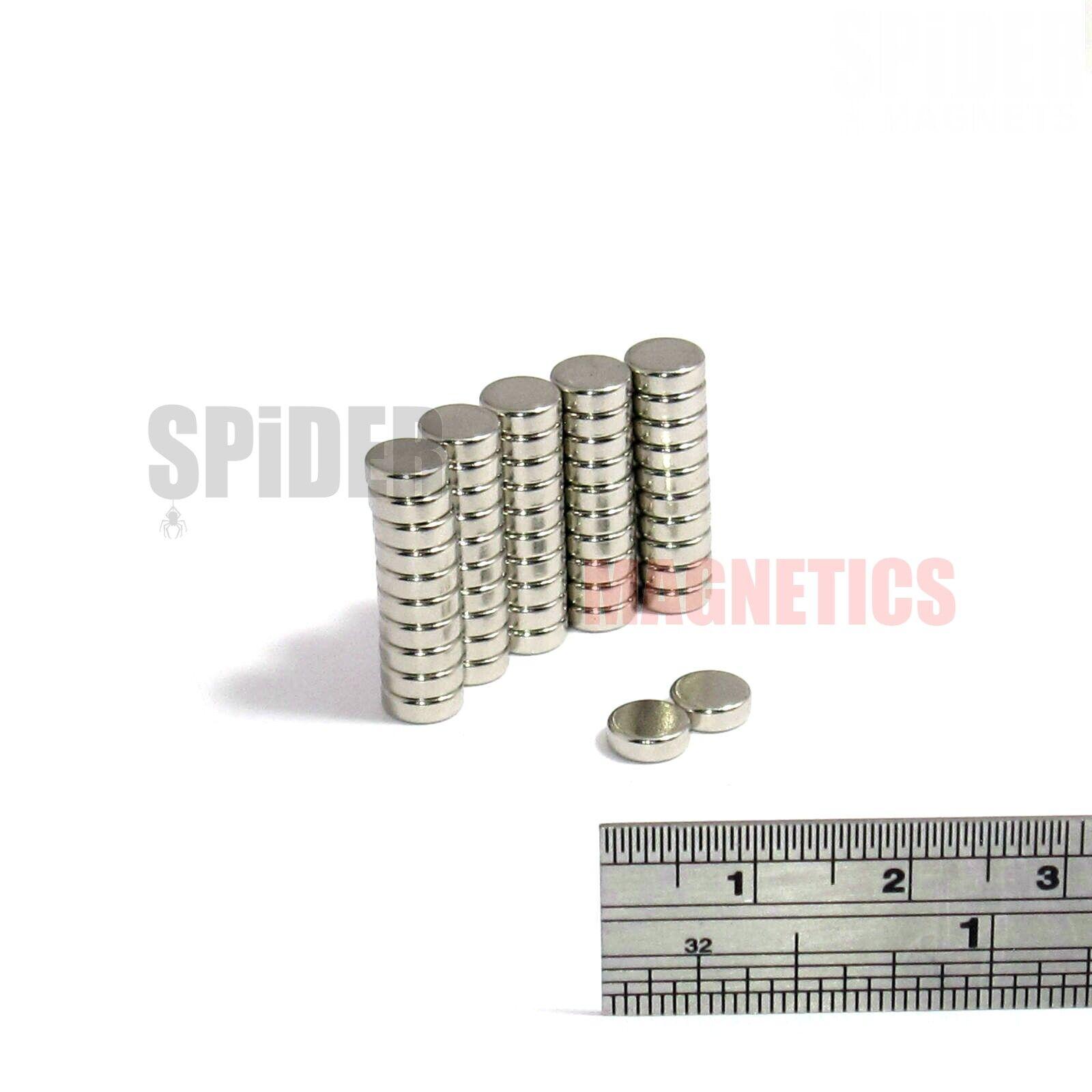 50 Magnets 6x2 mm Neodymium Disc small round magnet 6mm dia
