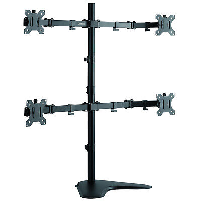 "TekBox QUAD MONITOR MOUNT - 4 Computer Screen Stand 13-32"" Display TV VESA"