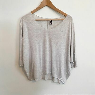 Vince Boxy Drop Shoulder T-shirt Gray Size Large