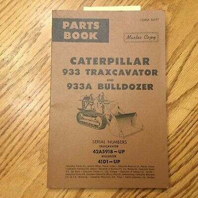 Cat Caterpillar 933 Parts Manual Book Traxcavator Track Loader Sn 42a5918-up 41d