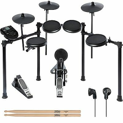 Alesis Nitro Drum Kit, 8-Piece Electronic Kit with Module + Sony earbuds + More