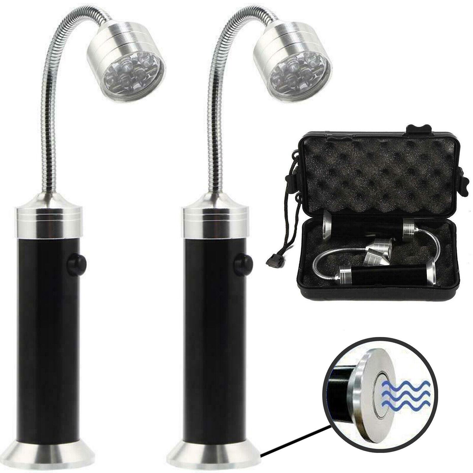 HOCHWERTIGE LED Grilllampe Grilllicht Grillleuchte Schwanenhals Magnet - 2 Stück