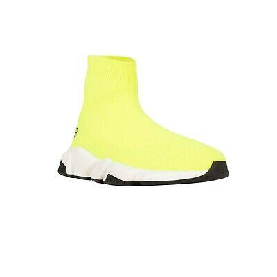 NIB BALENCIAGA Neon Yellow 'Speed' Sock Youth Sneakers Size 13-14/31-32 $320