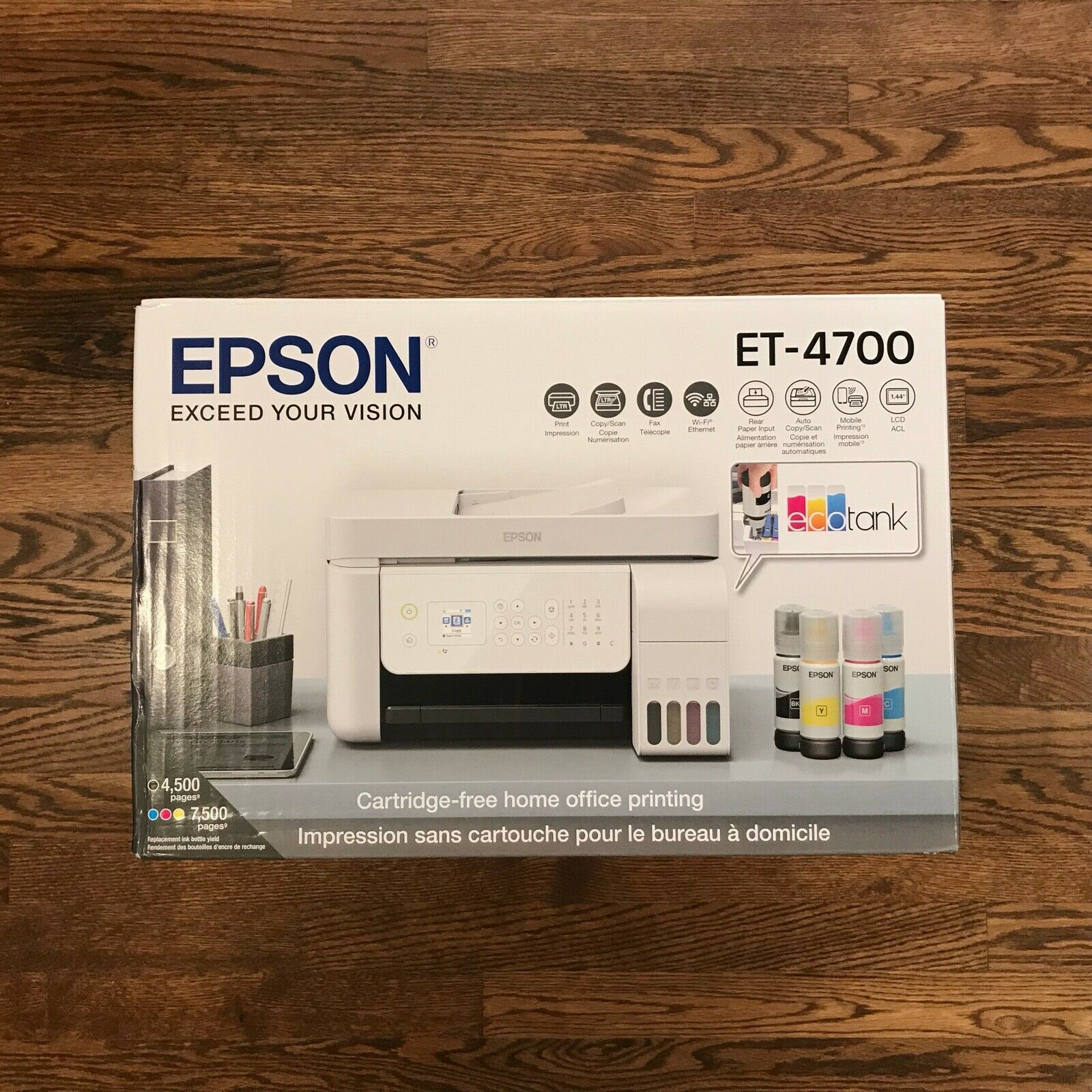 New Sealed Epson EcoTank ET-4700 Wireless All-in-One Color S